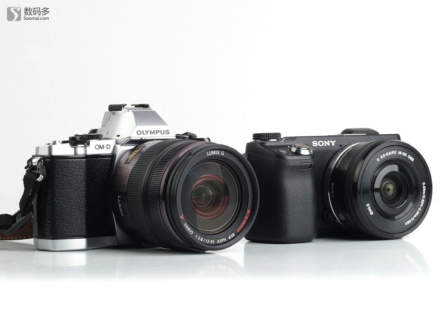 sony 索尼 nex-6 微型可换镜头数码相机-与奥林巴斯e-m5大小对比