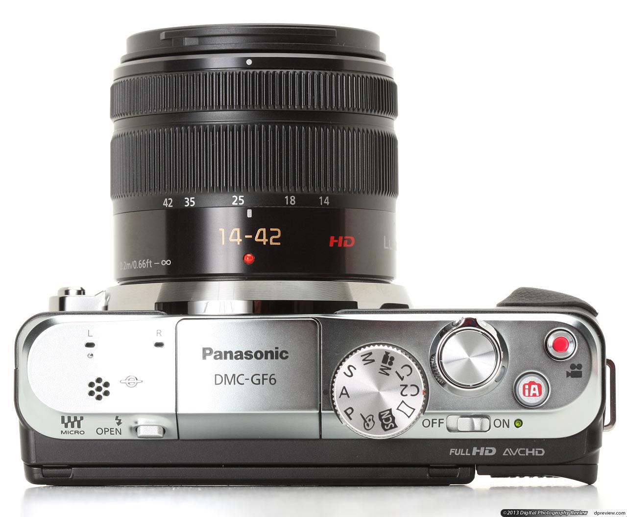 panasonic 松下 lumix dmc-gf6 微型可换镜头相机-顶部图片