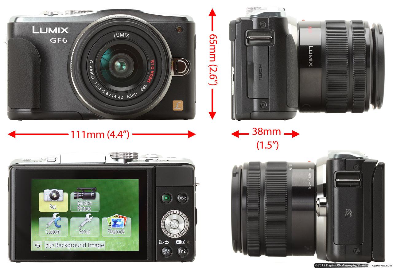 panasonic 松下 lumix dmc-gf6 微型可换镜头相机-尺寸图片